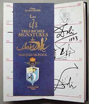 Les 678 Tres Riches Signatures de Dali